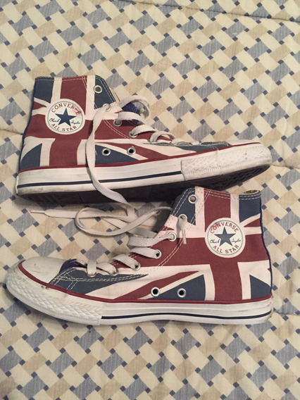 Zapatillas Botitas Converse All Star T 5 Us 23 Cm Impecable