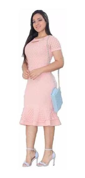 Vestido Evangelico Midi Social Roupas Evangélicas Moderna