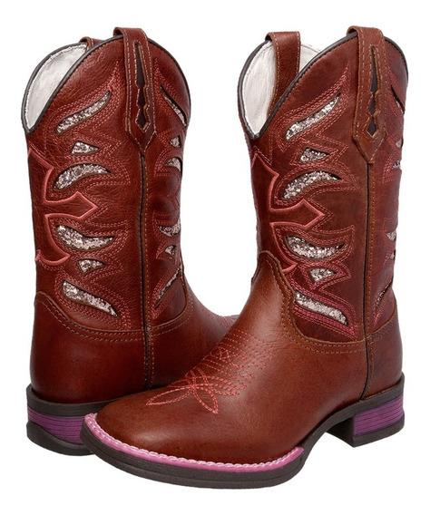 Bota Feminina Couro Country Rodeio Barato 2019 Breviello Hh