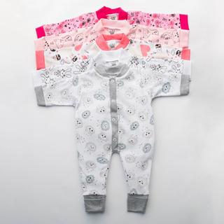 Kit C/4 Macacão Roupas Enxoval Menina Maternidade Feminino