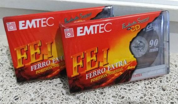 Fitas Cassete Basf Ferro Extra I 90 Lacradas Frete R$ 13 :)