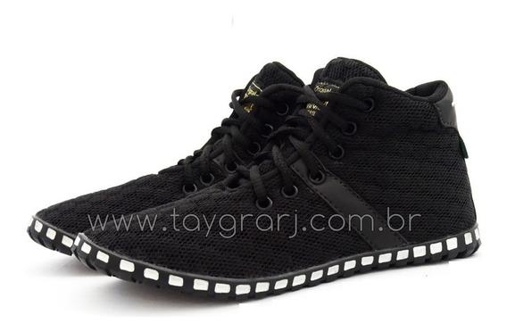 Tênis Taygra Original Modelo Botinha Comfort Preto