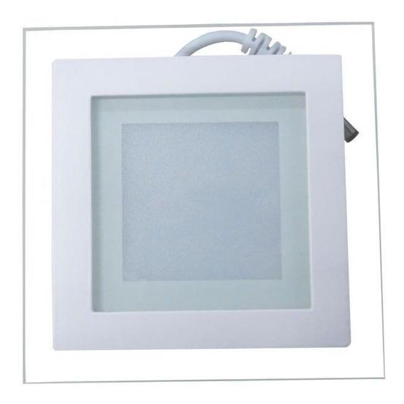 3 Un - Luminária Plafon Led 16w Vidro Embutir Redond-quadrad