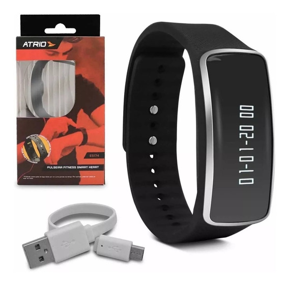 Pulseira Fitness Smart Atrio Es175 Bluetooth Android E Ios