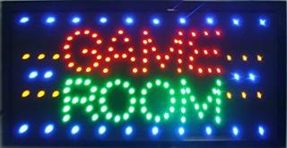 Cartel De Neón Para Sala De Juegosbillargioco Pokergolf S