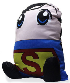 Almofada Geek Superman Super-homem Heroi Boneco De Pelucia