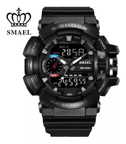 Relógio Militar Smael 1436 Prova D´agua Preto