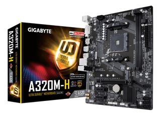Tarjeta Madre Gigabyte Ga-a320m-h Am4 Ddr4 Micro Atx