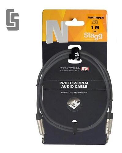 Imagen 1 de 3 de Cable Profesional Stagg Nac1mpsr -mini Plug Stereo- 1 Mt