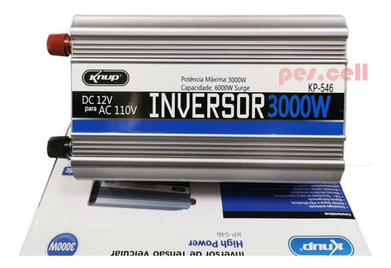 Inversor Transformador Conversor 3000w Veicular 12v 110 546