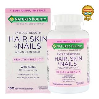 Biotina Hair Skin E Nails 5000 Mcg Natures Bounty 150cap Eua