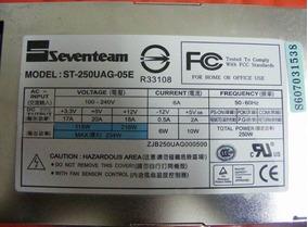 Fonte Seventeam 250w P/servidor Atx 1u Model: St-250uag-05e