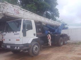 Ford Cargo 2422 U.dono Bx Km Com Guindaste Md 250 Impecavel
