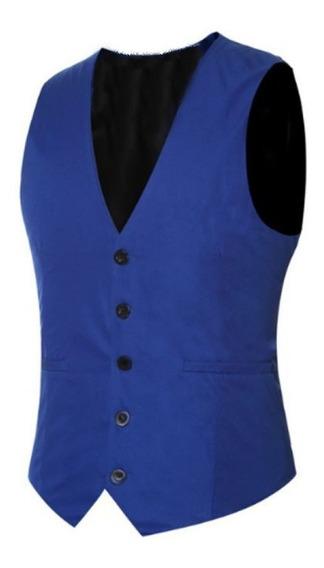 Colete Social Masculino Azul Royal