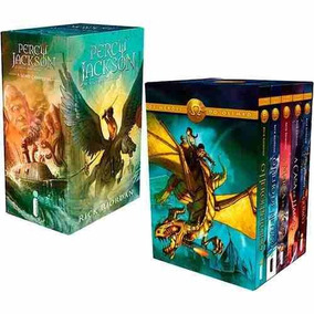 Box Percy Jackson & Os Olimpianos + Box Heróis Do Olimpo