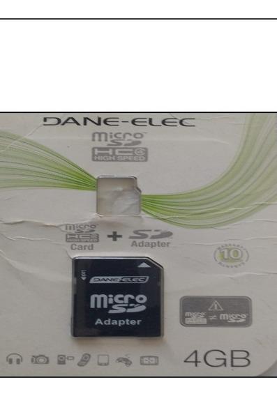 Memoria Microsd Dane-elec 4g Nuevo