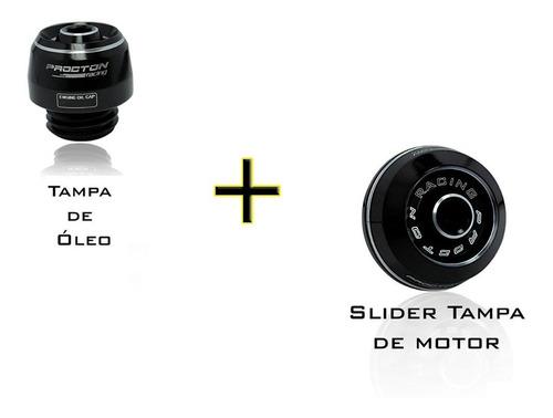 Slider Tampa Motor + Tampa Óleo Procton Srad Gsr Hornet Xj6