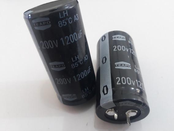 2 Capacitor Snap In 1200uf 200v 85° Teapo Maquina Solda