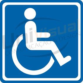 4 Adesivos Deficiente Físico Cadeirante 12x12cm Carro Aviso