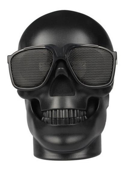 Caixa De Som Portatil Bluetooth Usb Caveira Skull