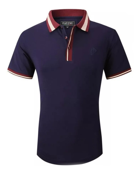 Playera Moda Hombre Fashion Marca Pavini Original P891 Navy