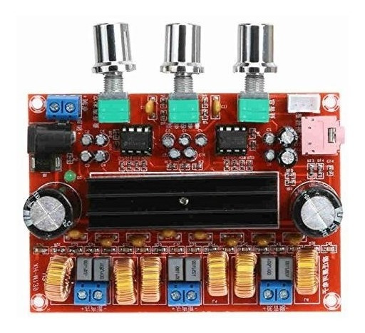 Amplificador De Áudio Tpa3116d2 2.1 50w*x2 + 100w Entrada P2