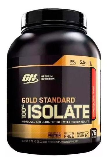 Proteina Isolatada Gold Standard On 5lb 76 Serv