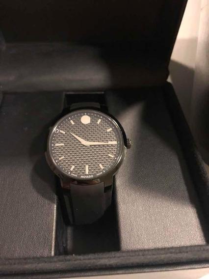 Relógio Movado De Safira E Carbono