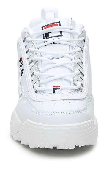 Zapatillas Fila Disruptor Unisex Importada Blancas 6 Cuotas