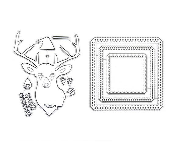 Troqueles De Corte De Metal Forma De Feliz Navidad