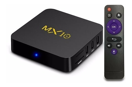 Tvbox Mx 10 - Sua Tv Em Smat - Android 9.0 4k Pro 4gb/32gb