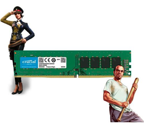 Kit Memória Ram Crucial 3x8gb Ddr4 2666mhz Pc Computador