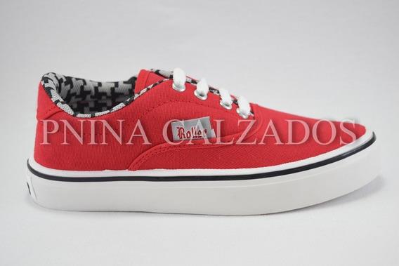 Pancha Acordonada Roller Roja 35 Al 40 Roller