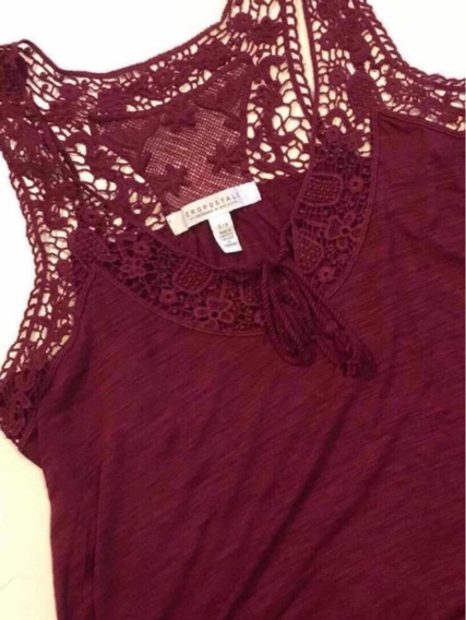 Top Aeropostale Bordeaux Crochet