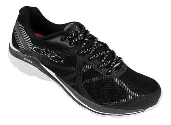 Tenis Olympikus Glam /434 Preto/branco Palmilha Feetpad