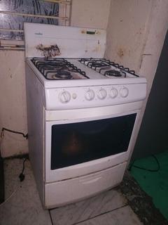 Estufa Mabe 4 Hornillas Horno Doble Ensendidoelectrico/gas.