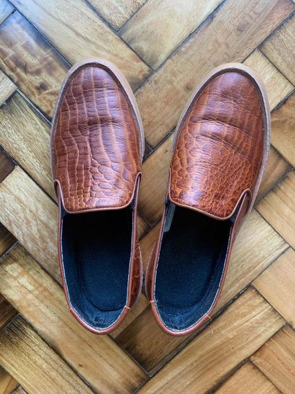 Zapatillas Panchas Akiabara T37 Cuero Color Suela