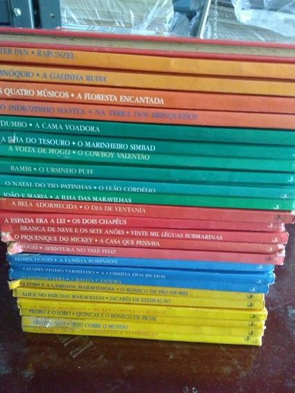 Lote 25 Livros Clássicos Disney Infantil Antigo/1986 Raros
