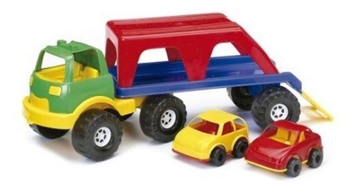 Rondi Auto De Arrastre Camion Transportador + Dos Autos