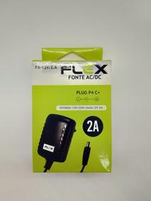Fonte De Alimentação Estabilizada Bivolt Plug P4 C+ 12v