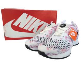 Oferta Tenis Nike Dama Flores Blanco 5.5mx Envio Gratis