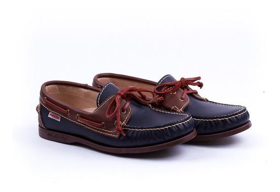 Pielsa Zapatos Nauticos De Cuero Mocasin