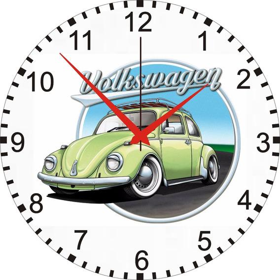 Fusca - Relógio De Parede Personalizado - Fusca- 24cm