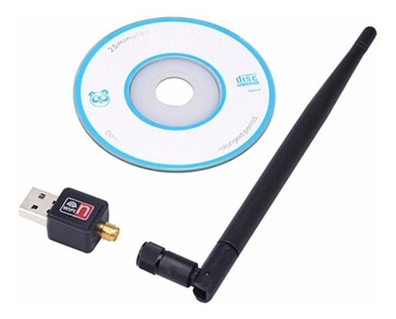 Adaptador Wireless Usb Wifi Sem Fio 900mbps Antena 5dbi