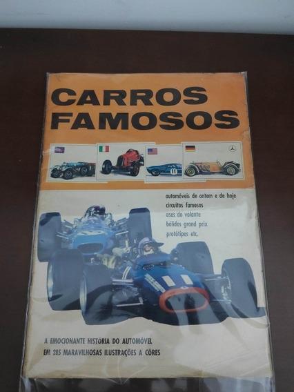 Álbum De Figurinhas - Carros Famosos... Álbum Raro
