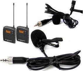 Microfone Lapela Para Sennheiser Plug P2 Rosca Cabo 2m