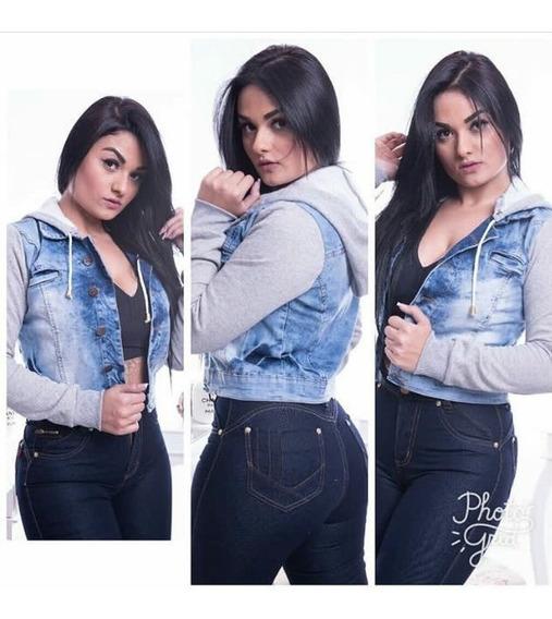 Jaqueta Jeans Com Moleton Moda Adoslecente