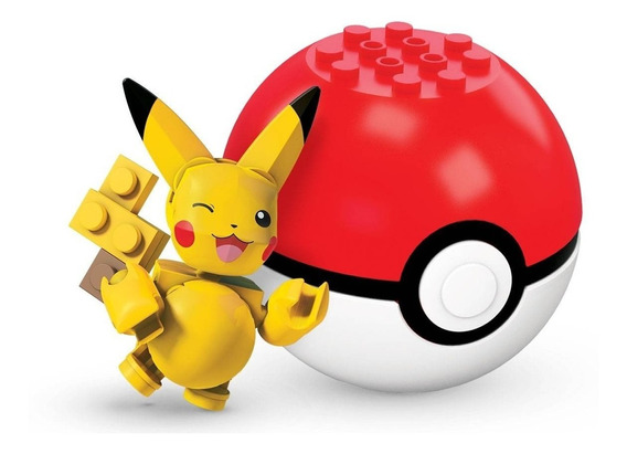 Pokebola - Pikachu - Pokémon - Mega Construx