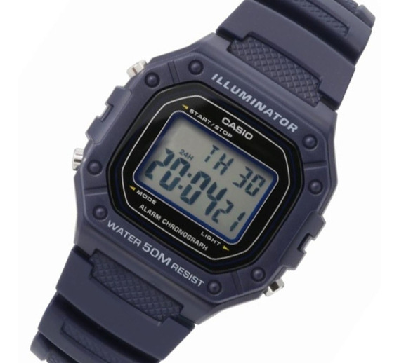 Relogio Casio W-218h Cores Alarme Data Crono Retrô Original