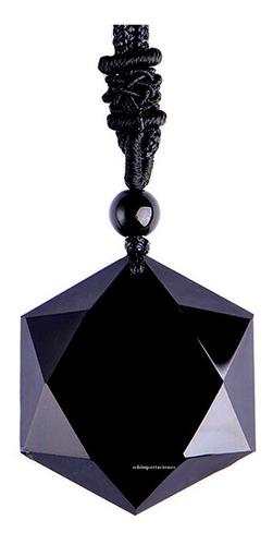 Nuevo Colgante De Protección Obsidiana Negra, Gran Merkabah
